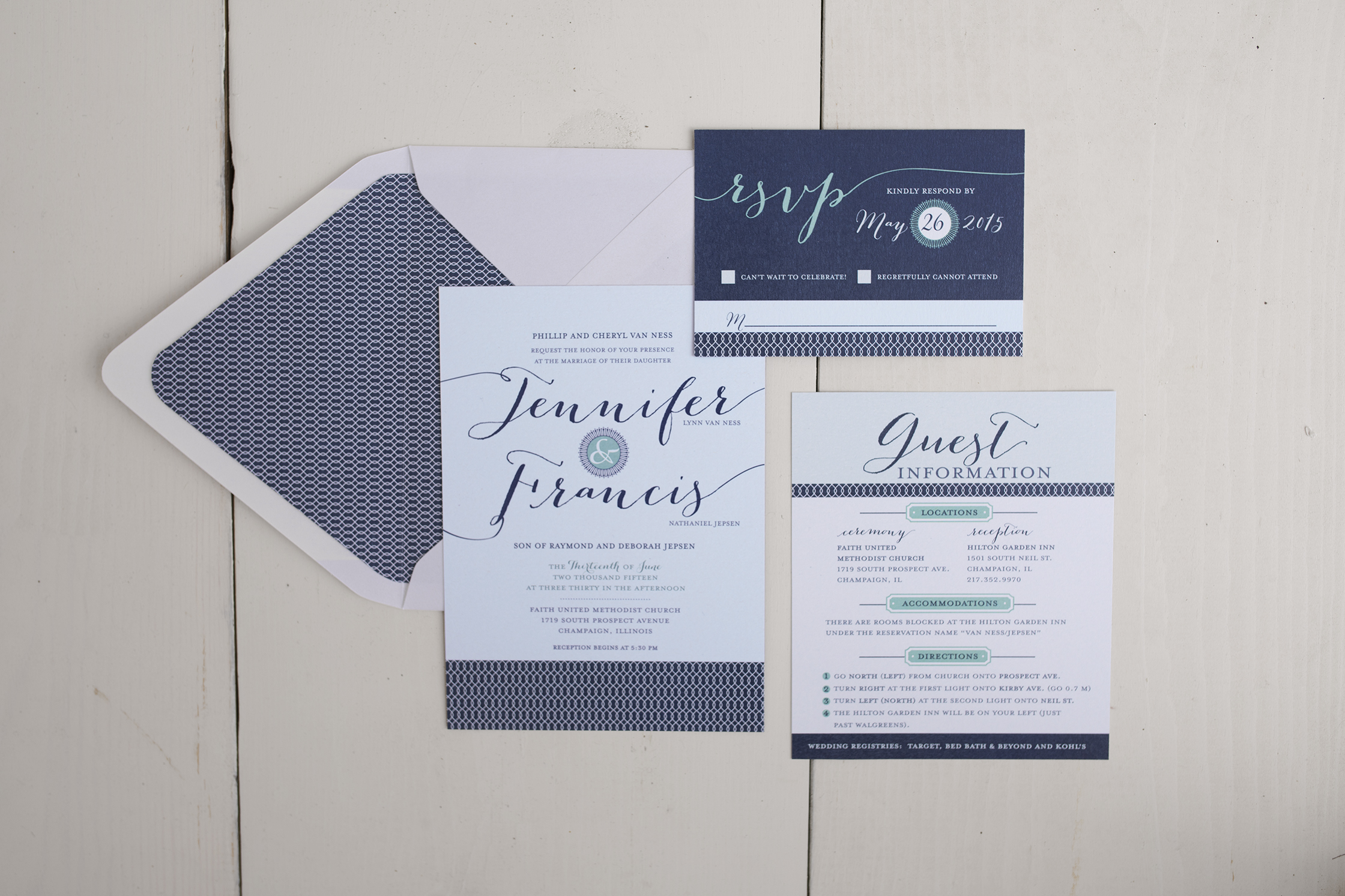 Wedding Invitation Design Kelly Graves Design